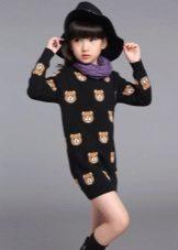 Vestido de inverno para meninas 5 anos
