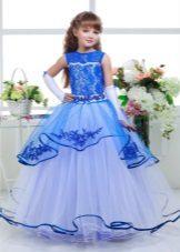 Vestido de baile chique para meninas azul