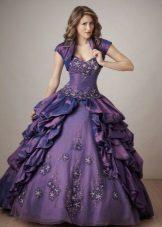 Vestido de baile roxo elegante para meninas