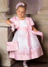 Bolero e bolsa para um lindo vestido exuberante para meninas