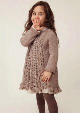 Vestido de inverno tricô para meninas