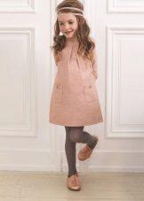 Vestido rosa de inverno para meninas