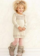 Camisola de inverno com mangas compridas para meninas