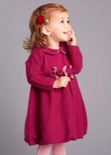 Vestido de malha de inverno fofo para meninas