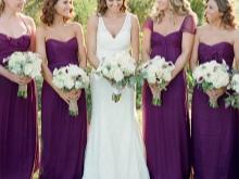 Lila bridesmaids mekot
