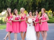 Hot Pink Bridesmaid Mekot