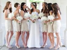 Beige Bridesmaid Mekot