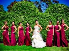 Burgundy mekot bridesmaids