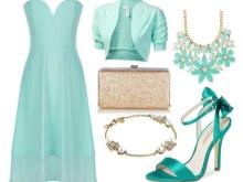 Ouro e turquesa turquesa vestido acessórios