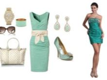 Mint-colored dress bag