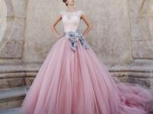Rochie de nunta cu curea de liliac