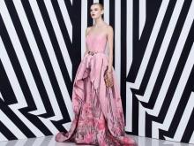 Rochie roz cu liliac rint