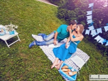 Fotoshoot zwanger in het park