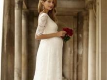 Kanten jurk voor zwangere vrouwen fotoshoot