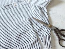 Corte superior na camisa