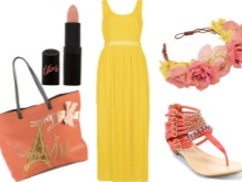 Yellow Dress Coral Accessories