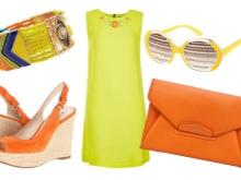 turuncu sarı elbise aksesuarları
