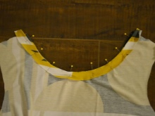 Costura de malha vestido de verão passo - 4