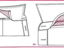 Esquema de costurar um colarinho de pé