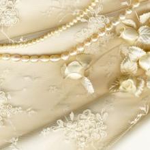 Szövetek esküvői ruha