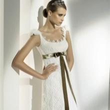 Esküvői ruha kötött felsőrésszel