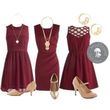 Wine-colored dress accessories
