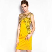 Keltainen lyhyt mekko Kiinasta