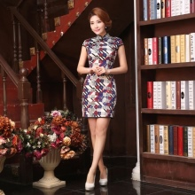 Cheongsam print dress