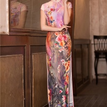 Cheongsam Midi Dress