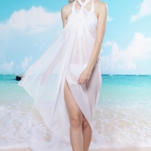 White sarong dress