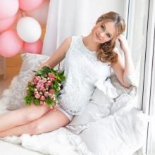 Jurk voor zwangere voor een fotostudio