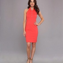 Midi Red Polo Dress