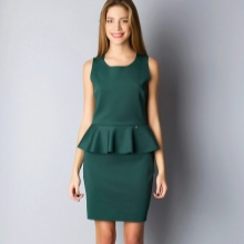 Dark green dress with basky