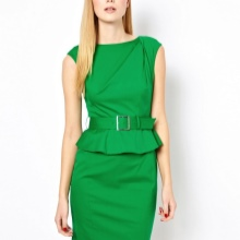 Bright green sheath dress
