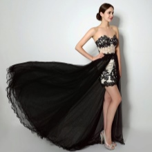 Short prom dress with train