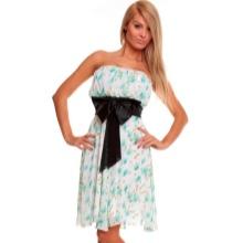 Bustier kjole med en bue i taljen til figuren Pære (trekant)