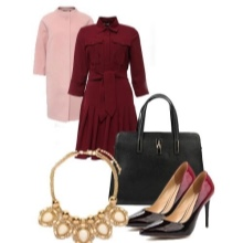 Platter jacket and accessories to it for an inverted triangle type figure