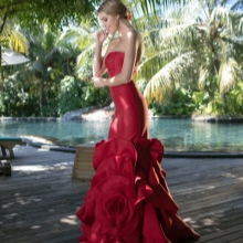 Spring dress mermaid mula sa Tariq Edis
