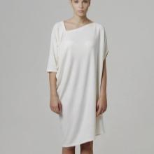 Home jurk vrij gesneden middellange lengte