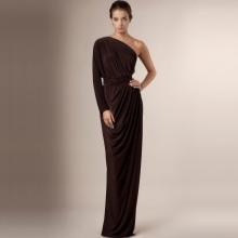 Vestido marrom Jersey