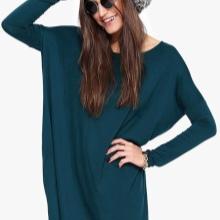 Gebreide jurk vleermuis kleur murene