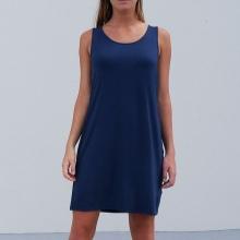 Blå kjole skjorte
