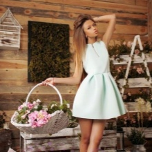 Mjölk kort klänning med klocka kjol