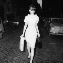 Vestido midi dos anos 60