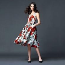 pukeutunut poplin-mekko