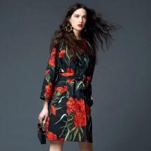 poplin-mekko, jossa on suuret kukat