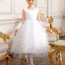 Vestido de formatura no jardim de infância branco exuberante