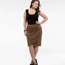 Faldilla de llapis embolcall marró per a dones obeses