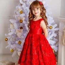 Vestido de ano novo para a menina vermelha