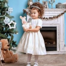 Vestido magnífico branco de ano novo para a menina